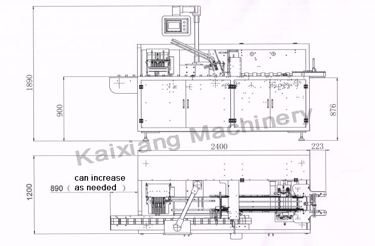 Machine Consumer Goods Cartoning Machine Kxz 100b